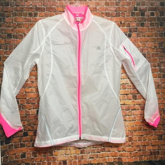 67be1183aa6 adidas Jackets & Coats | Windbreaker White Pink Small | Poshmark